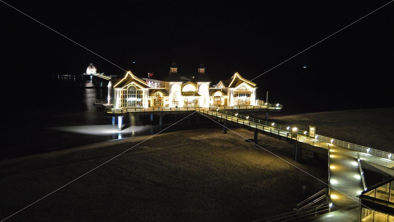 Nachtaufnahme Seebrücke Sellin