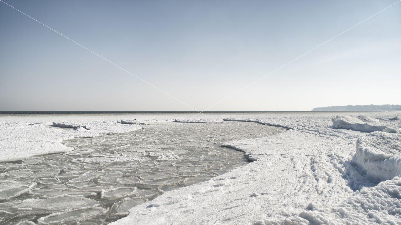 Eisbedeckte Ostsee