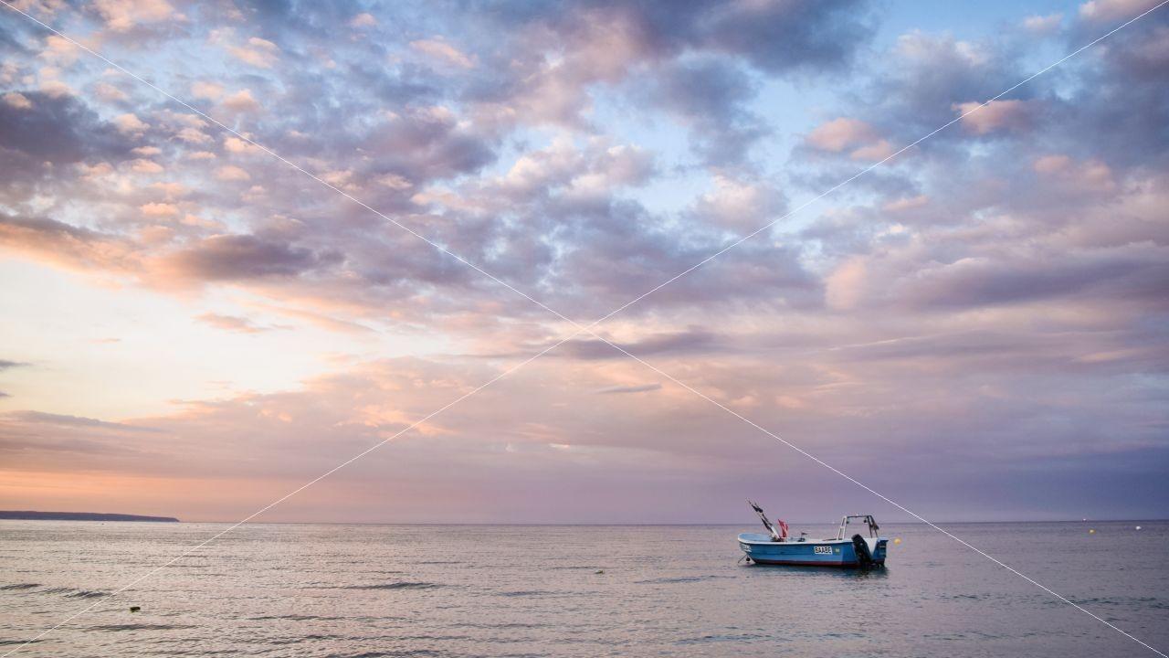Sonnenuntergang in Baabe