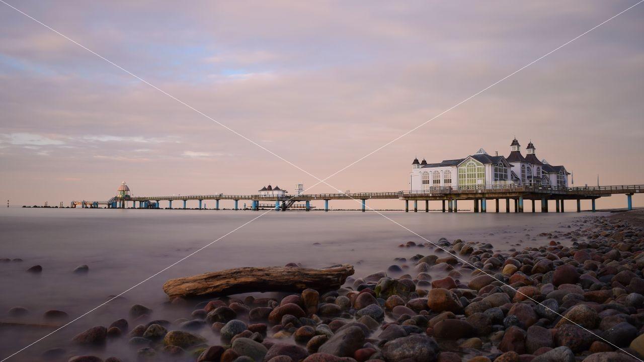 Sonnenuntergang am Strand vom Ostseebad Sellin
