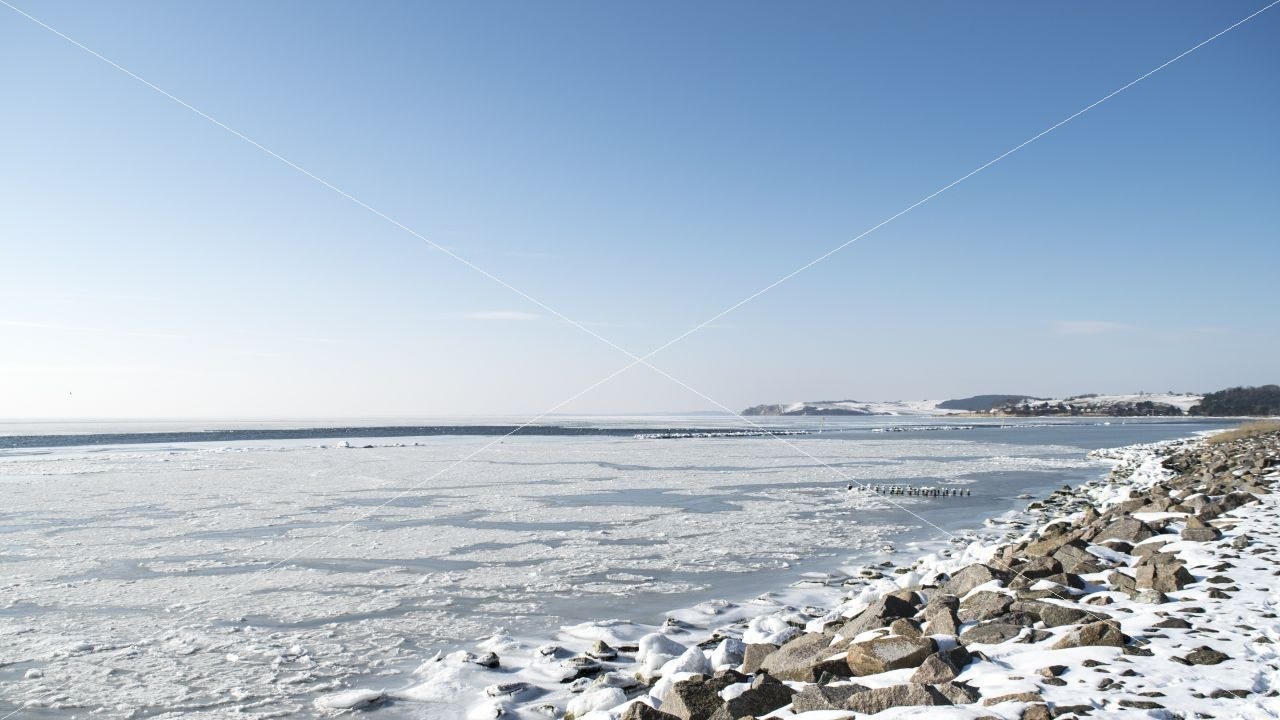 Winter im Ostseebad Thiessow