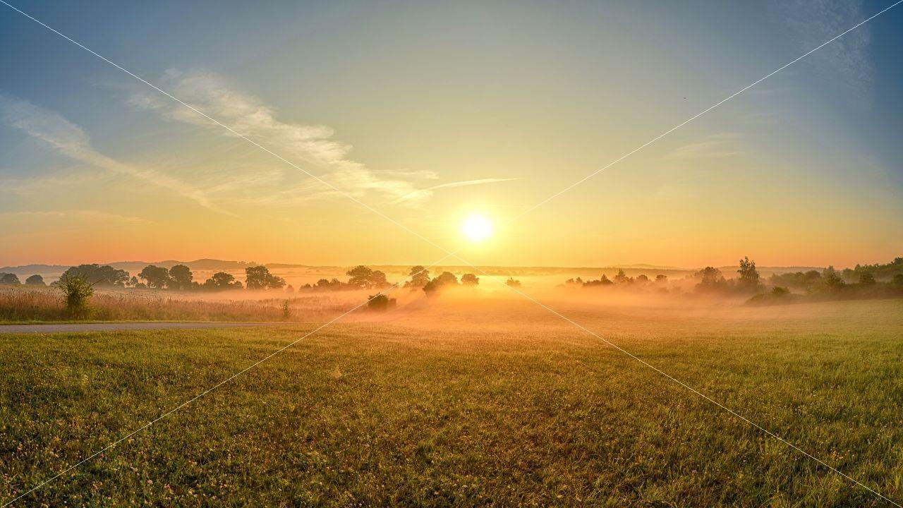 Morgennebel über Insel Rügen