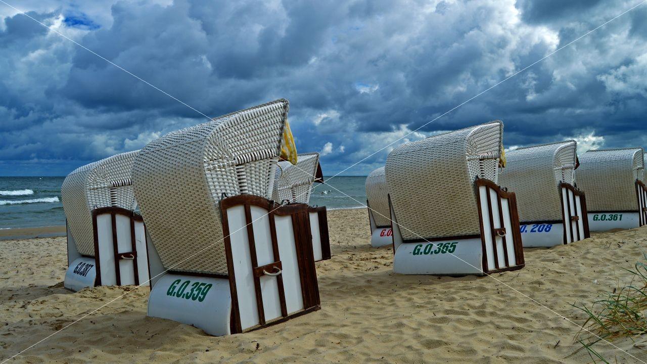 Strandkörbe Südstrand Ostseebad Sellin