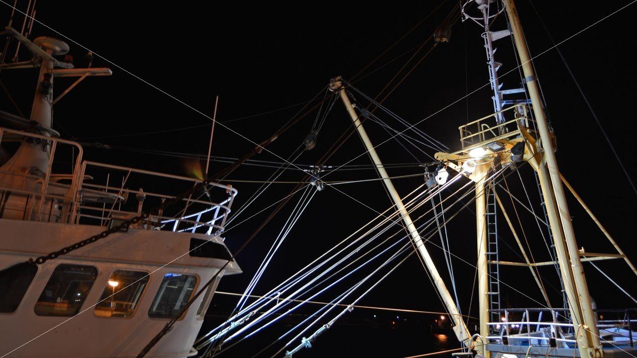 Nachtaufnahme Fischerboot