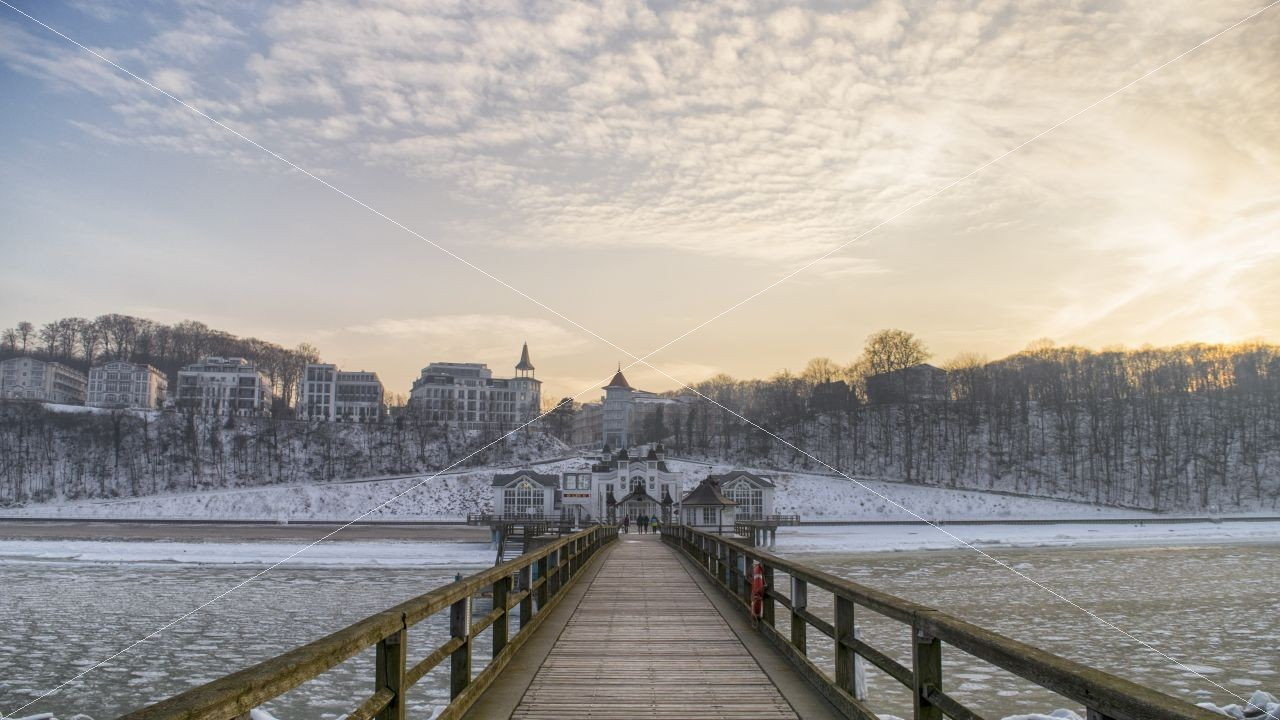Winter Seebrücke Sellin