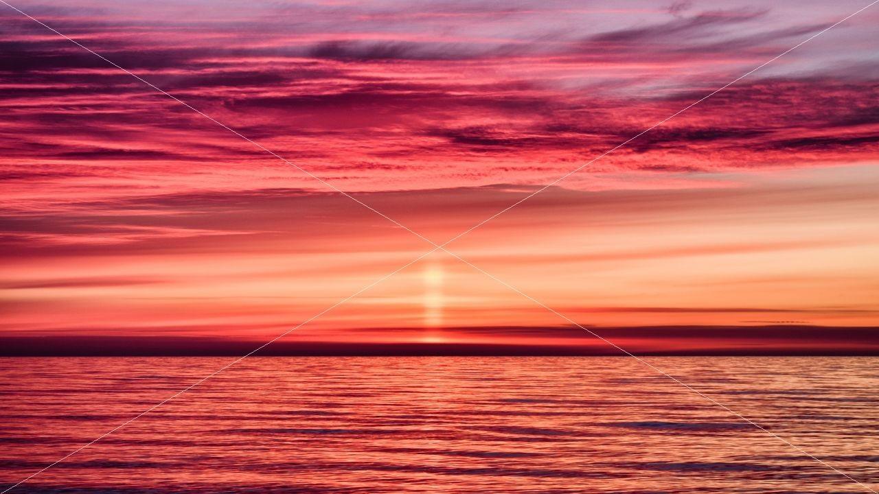 Lichtsäule vor Sonnenaufgang