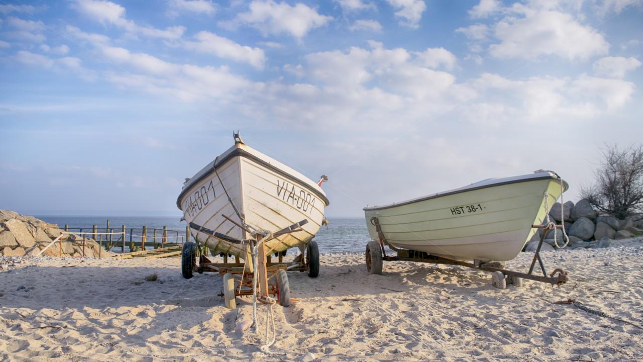 Boote im Fischerdorf Vitt