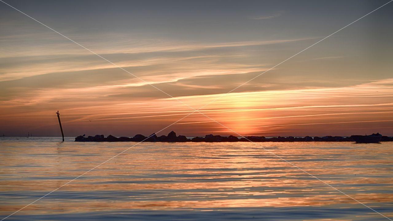 Sonnenuntergang Ostseebad Thiessow