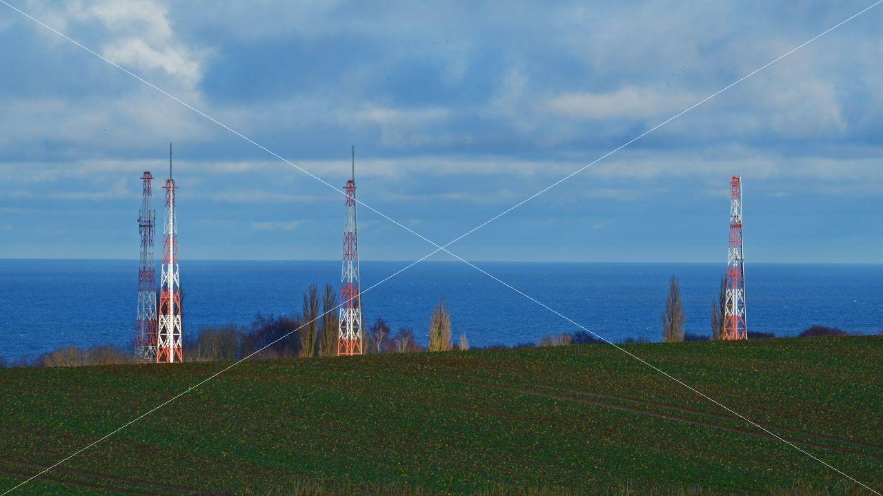 Sendemasten Rügen Radio in Lohme