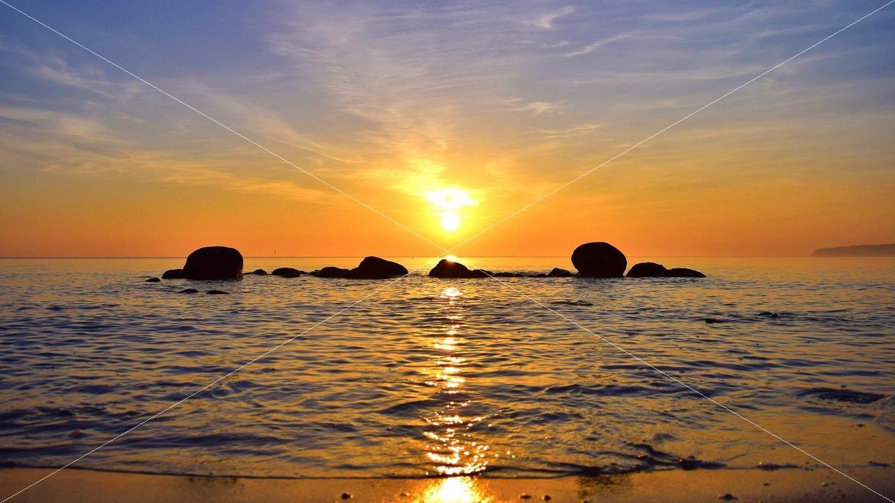 Sonnenaufang Insel Rügen