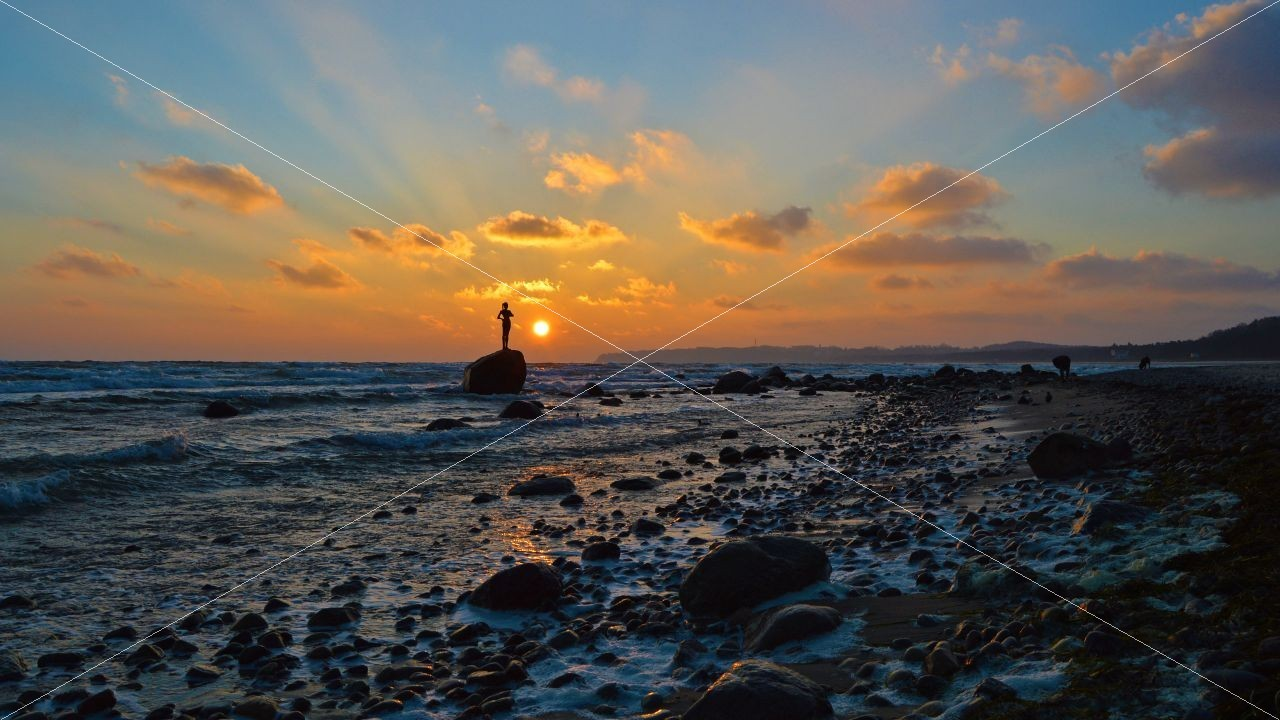 Sonnenaufgang am Strand vom Ostseebad Sellin