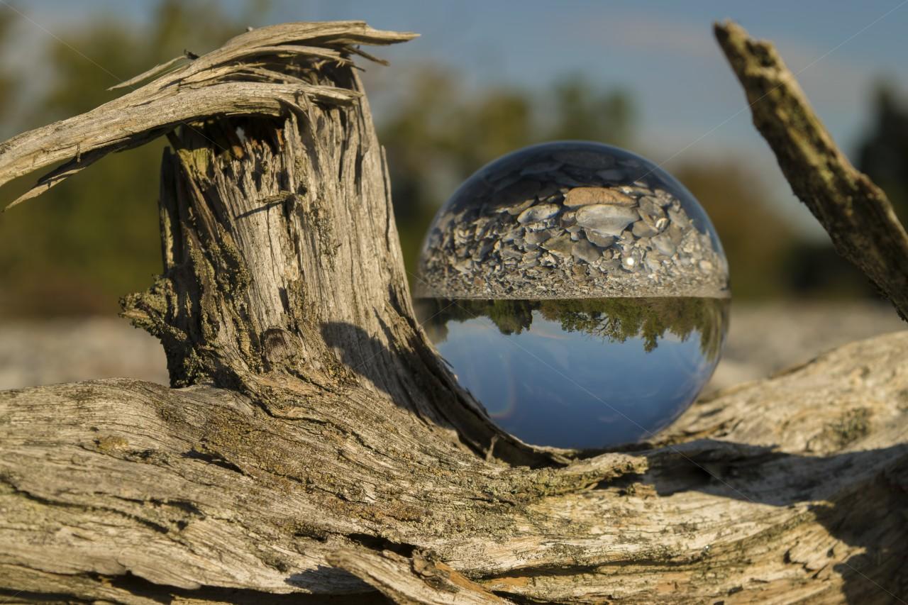 Glaskugelfoto - Feuersteinfelder