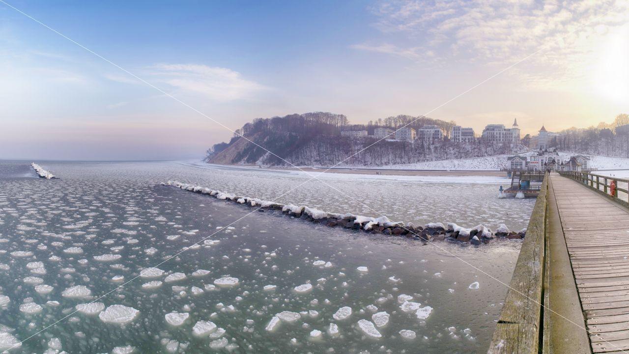 Winterzauber Seebrücke Sellin
