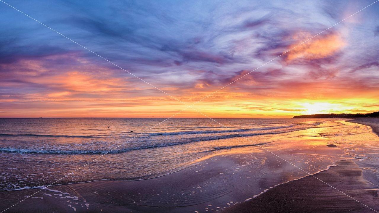 Sonnenaufgang am Fischerstrand