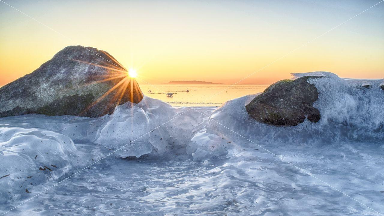 Sonnenuntergang in Neu Reddevitz