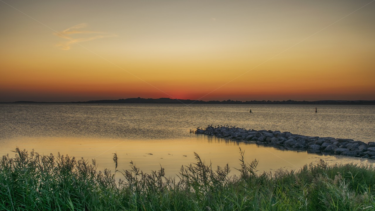 Sonnenuntergang in Gager