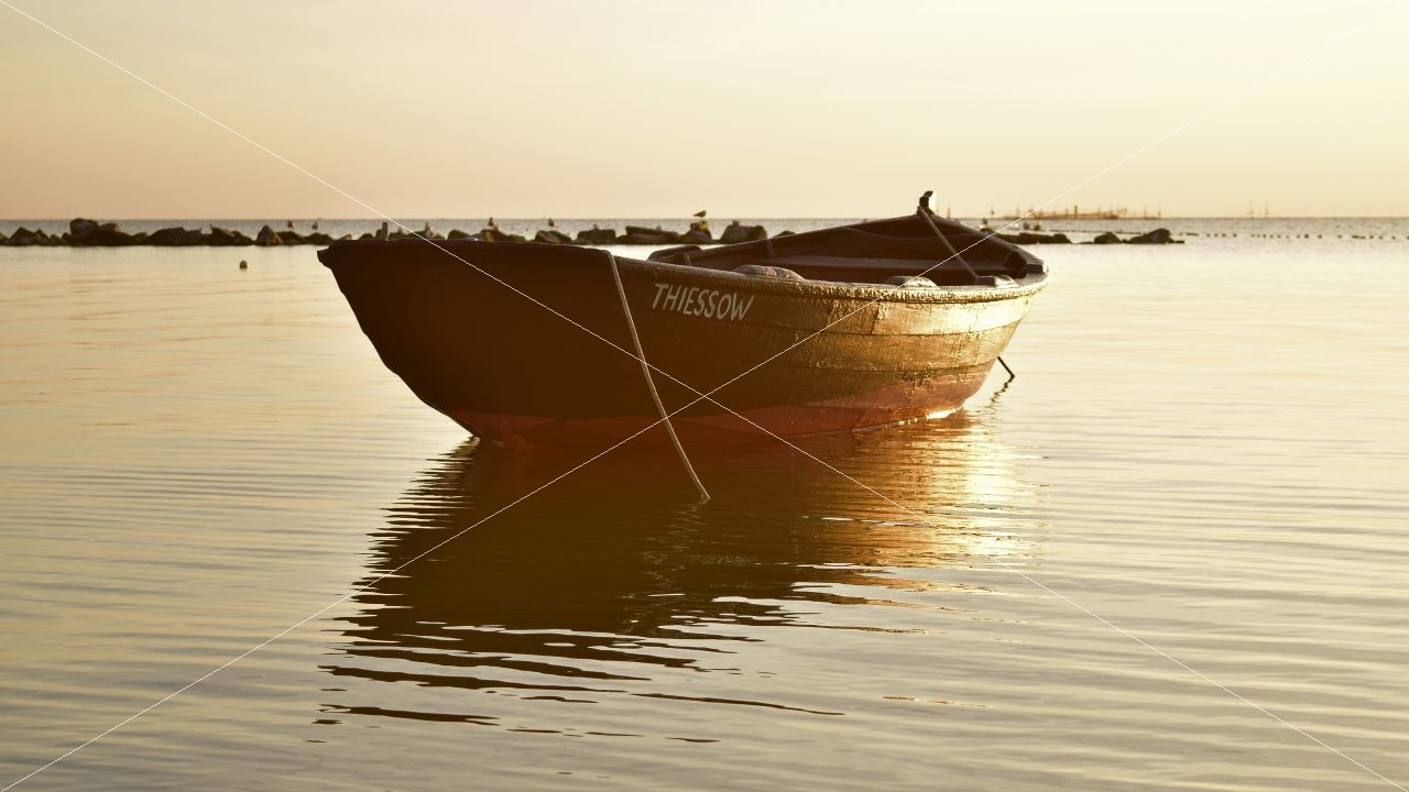 Fischerboot in Thiessow