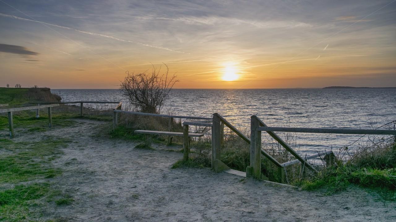 Sonnenuntergang in Alt Reddevitz