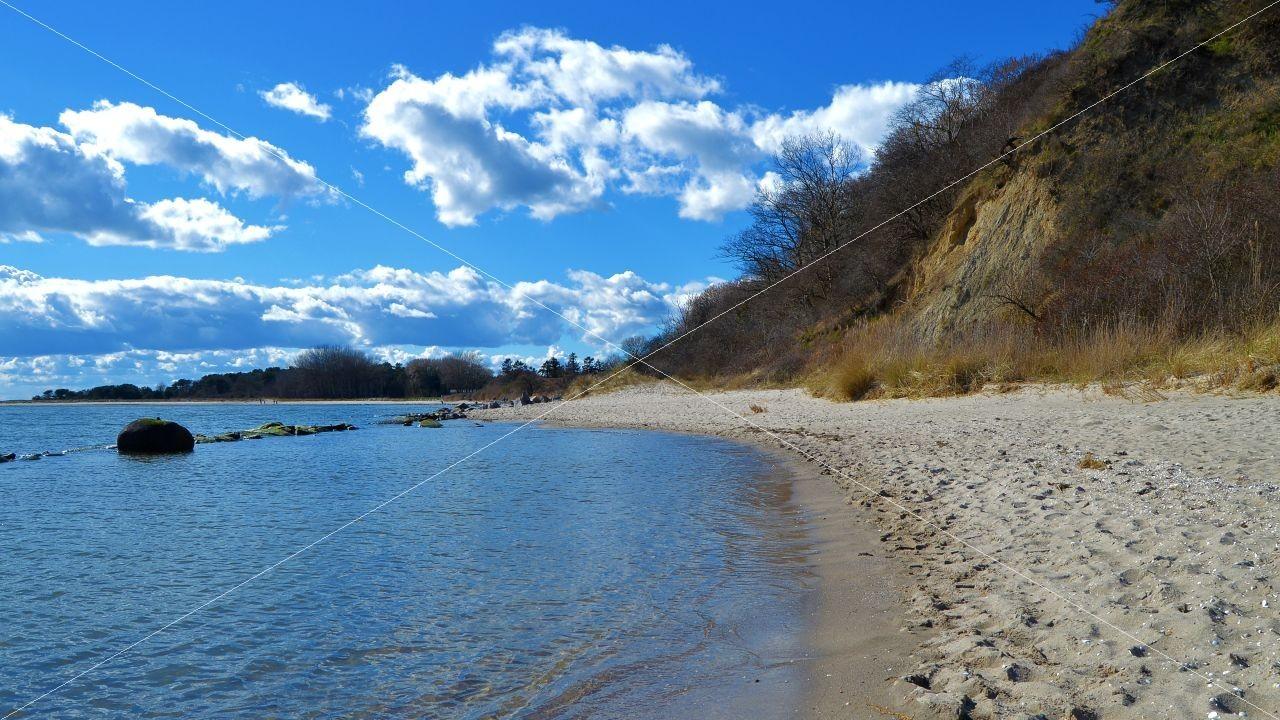 Strand beim Ostseebad Thiessow